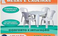 Aluguel de mesa e cadeira em Tremembé