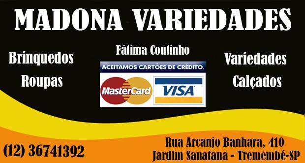 Madona Variedades - Tremembé - SP - (12) 3674-1392